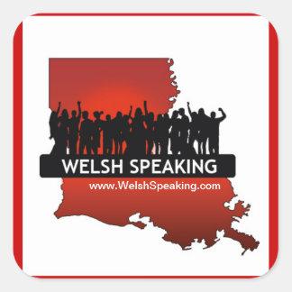 "Welsh Speaking ""Logo Stickers"" Square Sticker"