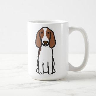Welsh Springer Spaniel Dog Cartoon Basic White Mug