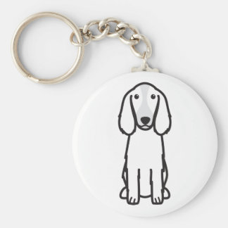 Welsh Springer Spaniel Dog Cartoon Keychain