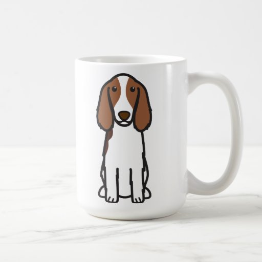 Welsh Springer Spaniel Dog Cartoon Mugs