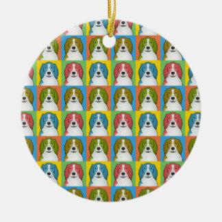Welsh Springer Spaniel Dog Cartoon Pop-Art Ceramic Ornament