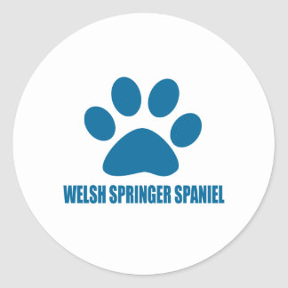 WELSH SPRINGER SPANIEL DOG DESIGNS CLASSIC ROUND STICKER