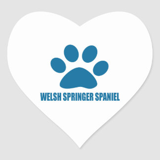 WELSH SPRINGER SPANIEL DOG DESIGNS HEART STICKER