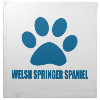 WELSH SPRINGER SPANIEL DOG DESIGNS NAPKIN