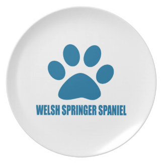 WELSH SPRINGER SPANIEL DOG DESIGNS PLATE
