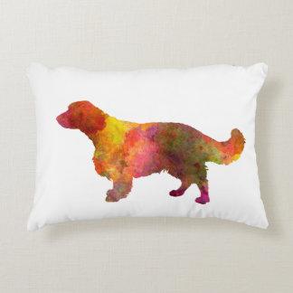 Welsh Springer Spaniel in watercolor Decorative Pillow