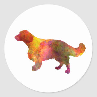 Welsh Springer Spaniel in watercolor Round Sticker