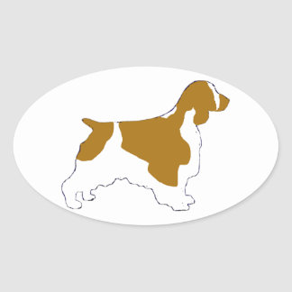 welsh springer spaniel oval sticker