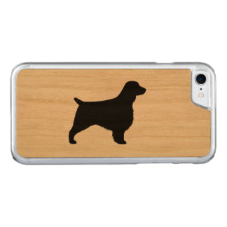 Welsh Springer Spaniel Silhouette Carved iPhone 8/7 Case