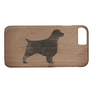 Welsh Springer Spaniel Silhouette Rustic Case-Mate iPhone Case