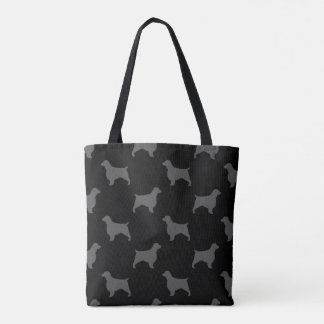 Welsh Springer Spaniel Silhouettes Pattern Tote Bag