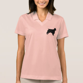 Welsh Springer Spaniel silo black Polo Shirt