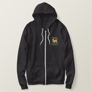 Welsh Springer Spaniels Leave Paw Prints Embroidered Hoodie