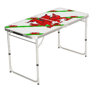 Welsh stripes flag beer pong table