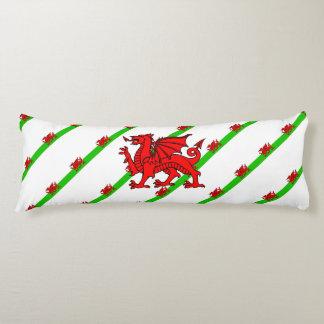 Welsh stripes flag body pillow