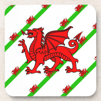 Welsh stripes flag coaster