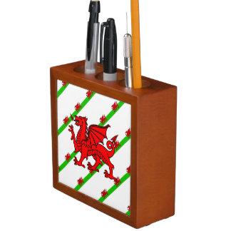Welsh stripes flag desk organizer
