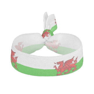 Welsh stripes flag hair tie