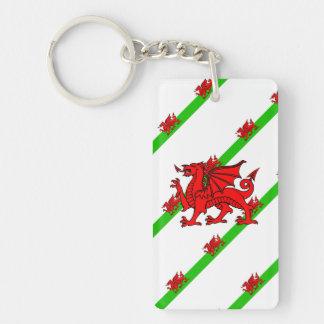 Welsh stripes flag keychain