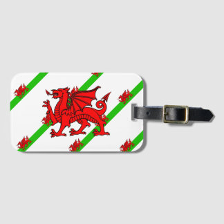 Welsh stripes flag luggage tag