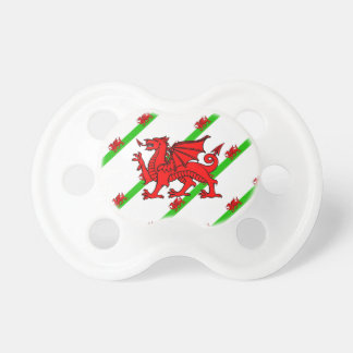 Welsh stripes flag pacifier