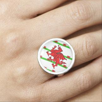 Welsh stripes flag ring