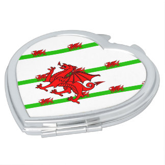 Welsh stripes flag vanity mirrors