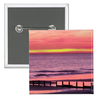 WELSH SUNSET 2 INCH SQUARE BUTTON