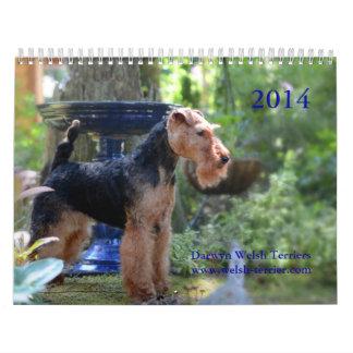 Welsh Terrier 2014 Calendar by Darwyn