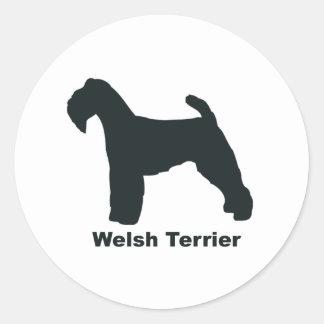 Welsh Terrier Classic Round Sticker