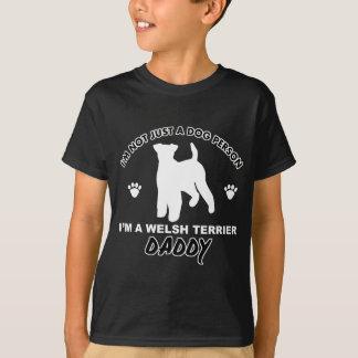 WELSH TERRIER daddy dog designs T-Shirt