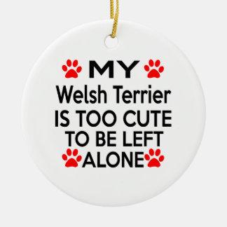 Welsh Terrier Designs Ceramic Ornament