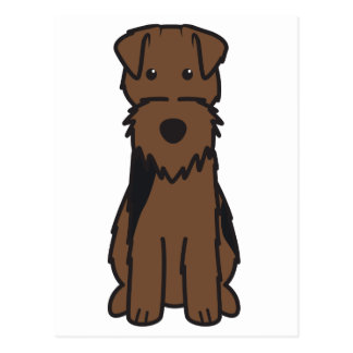 Welsh Terrier Dog Cartoon Postcard