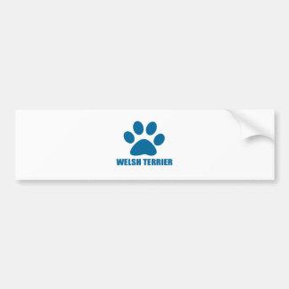 WELSH TERRIER DOG DESIGNS BUMPER STICKER