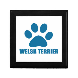 WELSH TERRIER DOG DESIGNS GIFT BOX