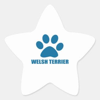 WELSH TERRIER DOG DESIGNS STAR STICKER