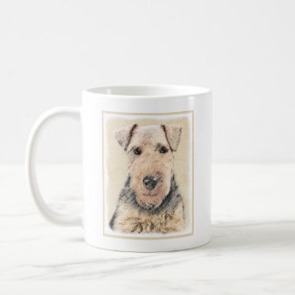 Welsh Terrier Painting - Cute Original Dog Art Coffee Mug