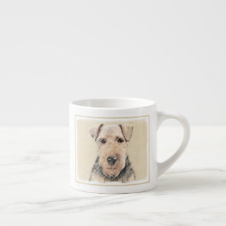Welsh Terrier Painting - Cute Original Dog Art Espresso Cup