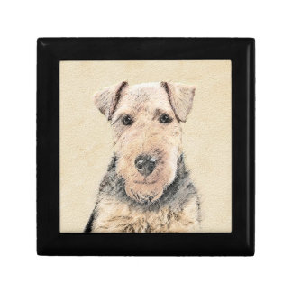 Welsh Terrier Painting - Cute Original Dog Art Gift Box
