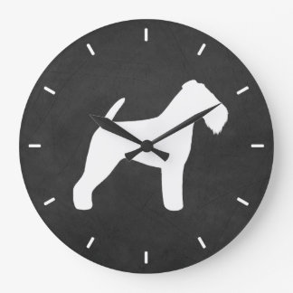 Welsh Terrier Silhouette Large Clock