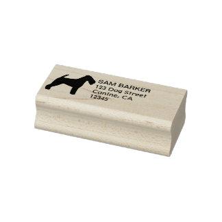 Welsh Terrier Silhouette Return Address Rubber Stamp