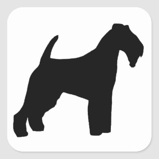 Welsh Terrier silo Square Sticker