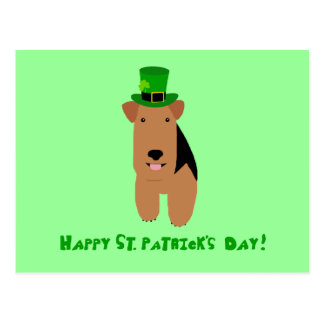 Welsh Terrier St. Patrick's Day Postcard