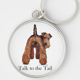 Welsh Terrier Tail Keychain