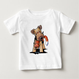 Welsh Terrier With Toy Fox Baby T-Shirt