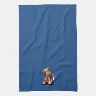 Welsh Terrier With Toy Fox Kitchen Towel