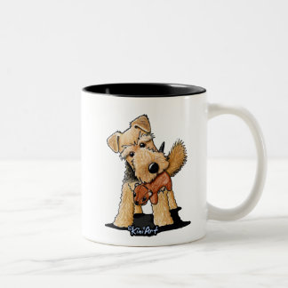 Welsh Terrier With Toy Squirrel Mug