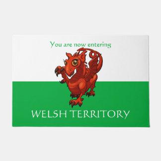 Welsh Territory Little Baby Red Dragon Cartoon Doormat
