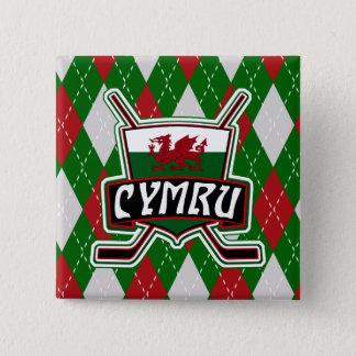 Welsh Wales Ice Hockey Badge Hockey Pin