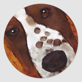 Welshie Face Art Classic Round Sticker